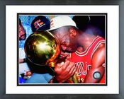 Michael Jordan 1991 NBA Championship Trophy Celebration Framed Picture 8x10
