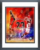 Michael Jordan 2011 Legends Composite Framed Picture 8x10
