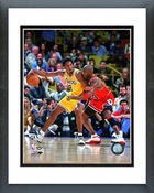 Michael Jordan guarding Kobe Bryant 1998 Framed Picture 8x10