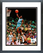 Michael Jordan North Carolina 1981 Action Framed Picture 8x10