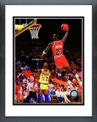 Michael Jordan Slam Dunk Action Framed Picture