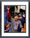 Mike Carp celebrates winning Game 6 of the 2013 World Series Framed Picture