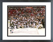 Pittsburgh Penguins Game 7 of the 2008-09 NHL Stanley Cup Finals Celebration on Ice Framed Picture Framed Picture