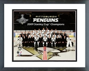 Pittsburgh Penguins 2009 Stanley Cup Champions Team Photo Framed Picture