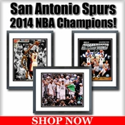 San Antonio Spurs 2014 NBA Champions Framed Pictures
