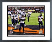 Seattle Seahawks Malcolm Smith Touchdown Super Bowl XLVIII Framed Picture