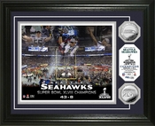 "Seattle Seahawks Super Bowl 48 Champions ""Celebration"" Silver Coin Photo Mint"