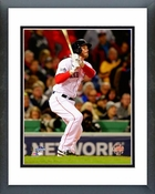 Stephen Drew Home Run Game 6 of the 2013 World Series Framed Picture