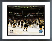 The Boston Bruins salute the fans 2013-14 Playoffs Framed Picture