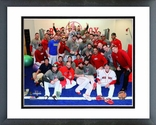 The Boston Red Sox 2013 World Series Champions Locker Room Celebration Framed Picture