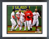 The Boston Red Sox Celebrate Winning Game 2 of the 2013 ALCS Framed Picture Framed Picture