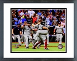 The Boston Red Sox celebrate winning Game 4 of the 2013 ALDS Framed Picture