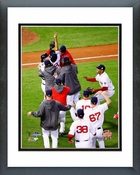 The Boston Red Sox celebrate winning Game 6 of the 2013 World Series Framed Picture