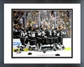 The Los Angeles Kings Celebrate Winning Game 5 of the 2014 Stanley Cup Finals Action Framed Picture