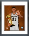 Tim Duncan with the NBA Championship Trophy Game 5 of the 2014 NBA Finals Framed Picture