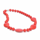Chewbeads Perry Teething Necklace Cherry Red
