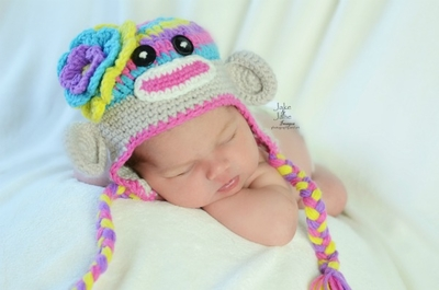 Daisy Baby Hat in Jewels