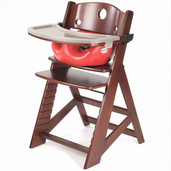 Keekaroo Height Right High Chair with Tray and Infant Insert in Mahogany
