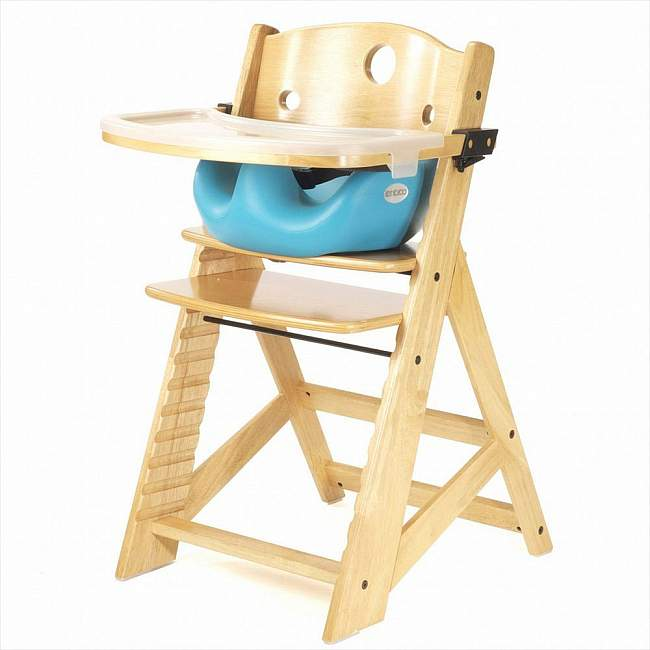 Keekaroo Height Right High Chair with Tray and Infant Insert in Natural