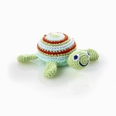 Pebble Blue Turtle Rattle