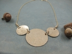 14kt gold filled disc necklace