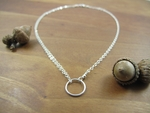Handcrafted sterling silver circle necklace