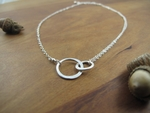 Small sterling silver entwined circles
