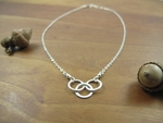 Sterling silver triple entwined circles