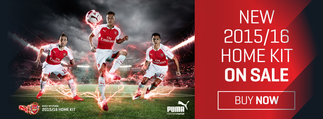 Arsenal 15/16 Home Jersey