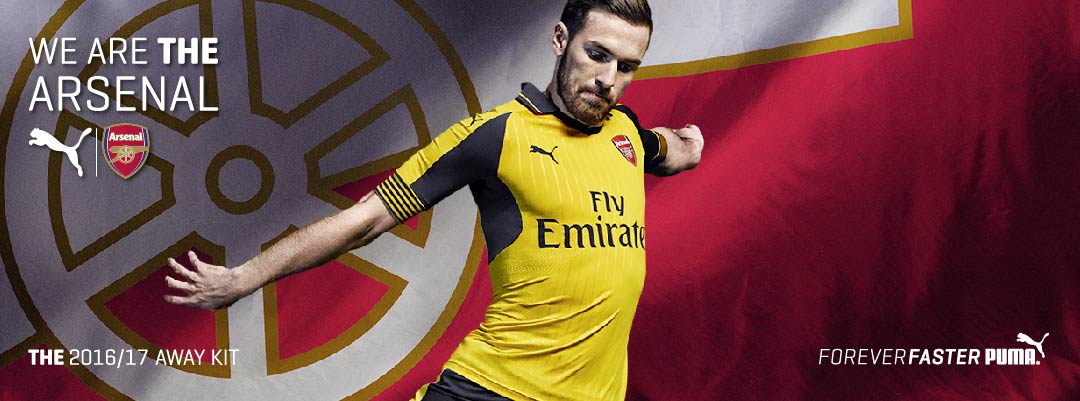 Arsenal 16/17 Away Jersey