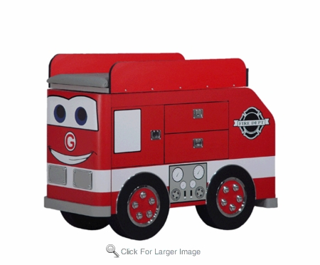 Frankie Fire Engine Changing Table