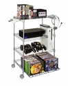Atlantic 45506019 - 4 Tier Wire Video Game Cart