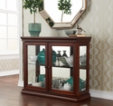 Holly & Martin Arabella Double-Door Curio-Mahogany