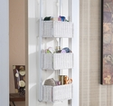 Holly & Martin - Hazel - Over-the-Door 3-Tier Basket Storage-White