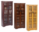 Leslie Dame M-477 - Tall Media Cabinet For DVD's and Blu-Rays