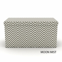 Moon Mist Ottoman - Lava Shades Of Grey