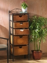 Southern Enterprises BE8999 - 5-Drawer Wicker Storage Unit