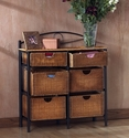 Southern Enterprises OC1888 - 6-Drawer Wicker Storage Chest