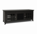 "TechCraft CRE60B - 60"" Wide Black Credenza TV Stand"