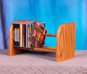 Wood Shed 104 -Solid Oak CD Storage Rack