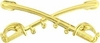 Cavalry Crossed Sabers Pin