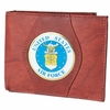 Leather Wallet Air Force Round - Brown