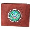 Leather Wallet Army Round - Brown