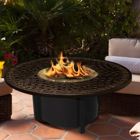 California Outdoor Concepts Carmel Chat Height 48 Inch Round Fire Pit with  Aluminum Top - California Outdoor Concepts Carmel Chat Height 48 Inch Round Fire
