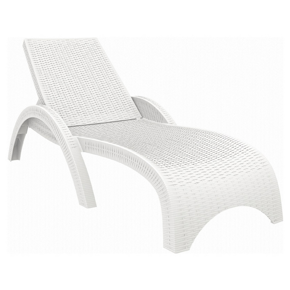 Compamia Miami Resin Wickerlook Chaise Lounge Free Shipping
