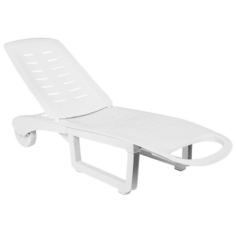 compamia set of 2 sundance pool chaise lounges in white