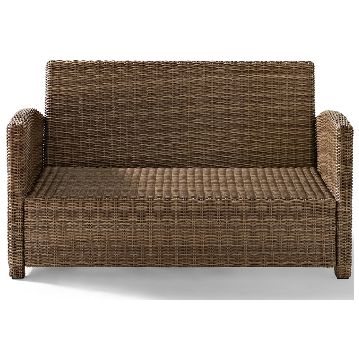 Crosley Biltmore Outdoor Wicker Loveseat with Cushions
