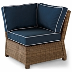 Crosley Biltmore Outdoor Wicker Sectional Corner Chair with Cushions