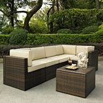 Crosley Palm Harbor 6 Piece Outdoor Wicker Seating Set