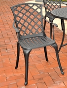 Crosley Sedona Cast Aluminum High Back Outdoor Arm Chair - Set of 2 in Charcoal Black